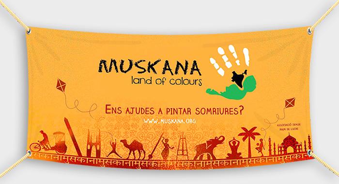 Lona, pancarta ONG Muskana